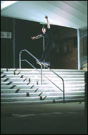 Matt Mumford, frontside boardslide